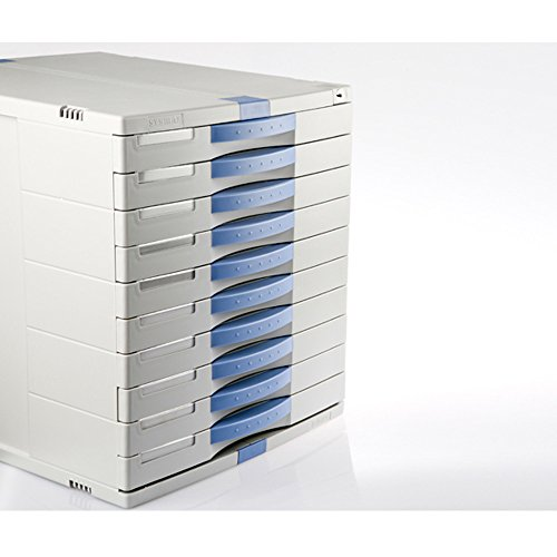10 Drawers Max Flat File Cabinet Index Key Lock Function Home Office Life MK100