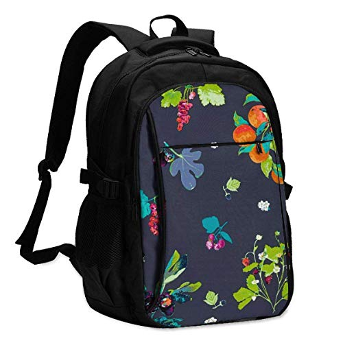 XCNGG Frutteria Jersey Jersey Travel Laptop Backpack College School Bag Casual Daypack with USB Charging Port