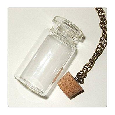 Leere Flaschen-Halskette, DIY-Glasfläschchen, Flaschenanhänger-Set, füllen Sie Ihre eigene Flasche, Schmuck