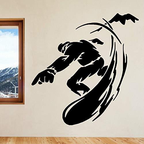 yaonuli Snowboard Wandaufkleber Vinyl Aufkleber Home Decor Wandbild Auto Aufkleber 30X45cm