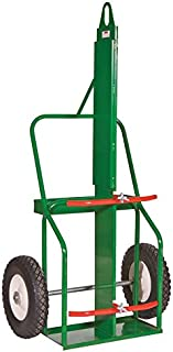 "Sumner 782444 209-16FB-LF Double Cylinder Cart, Medium Range, High Rail with Lifting Eye and Firewall, 16"" Flat Free Wheel"