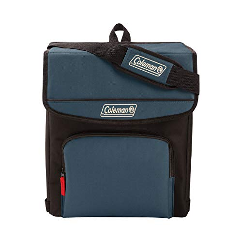 Coleman 34-Can Collapsible Cooler with 30-Hour Ice Retention | Soft-Sided Cooler Bag Folds Flat for Compact Storage, Slate