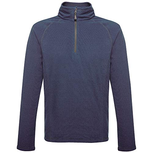 Regatta Men's Professional Parkline Half Zip Neck Quick Drying Mini Stripe Micro Fleece, Navy, Large