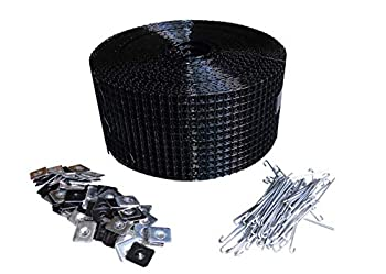 6  Squirrel Guard Kit 6 in 100 ft PVC Coated Galvanized Steel roll and 100 Aluminum Fasteners.