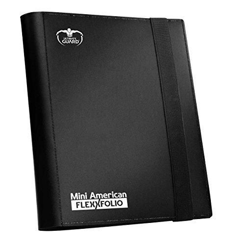 Ultimate Guard Flexxfolio American 9 Pocket Card Sleeves, Black, Mini