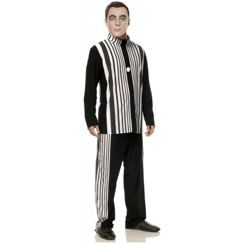 Mystery House Sheldon's Doppler Effect Costume, Black/White, Large