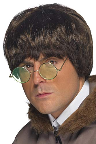 Smiffys Men's One Size Britpop Wig, Brown
