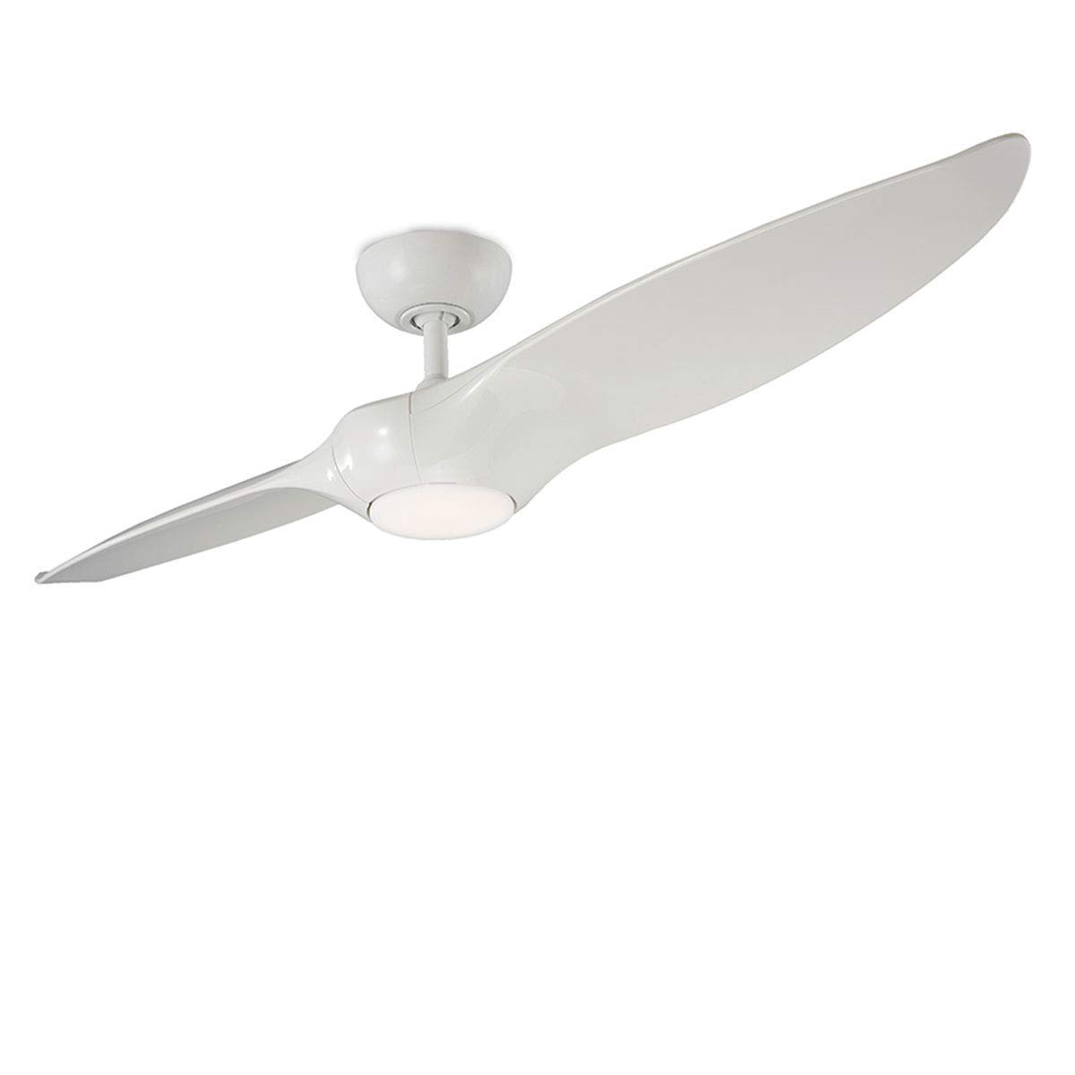 Amazon Com Morpheus Ii Indoor Outdoor 2 Blade Smart Ceiling Fan 60in Gloss White With 3000k Led Light Kit And Wall Control Works With Ios Android Alexa Google Assistant Samsung Smartthings And Ecobee Home Improvement