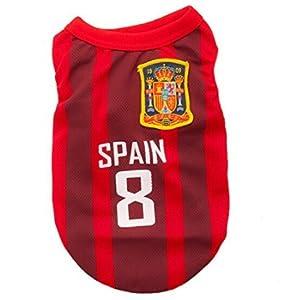 animally® Espagne Maillot pour chien–EM 2016–Allemagne–Dog–Pet Clothes–T-Shirt–Vêtements