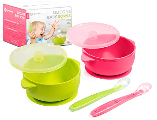 Silicone Baby Bowls Dishwasher/Microwave Safe Non-Slip for...