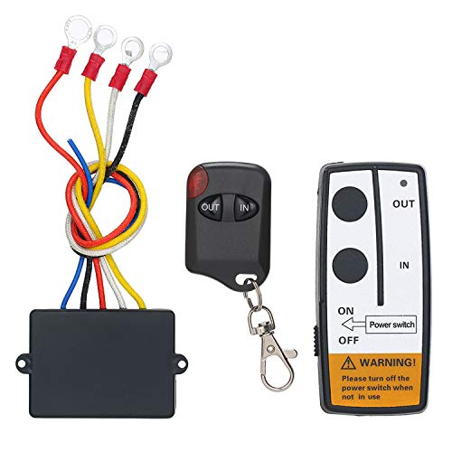 Yuangang 12V-24V 50ft Smart Winch Wireless Remote Control Switch Set E Universal Indicator Light for Jeep Truck ATV