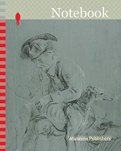 [画像:Notebook: Seated Man with Dog, n.d., Possibly Pierre-Jacques Volaire, French, 1729-1799, France, Black and white chalk, on blue-gray prepared ground, on ivory laid paper]