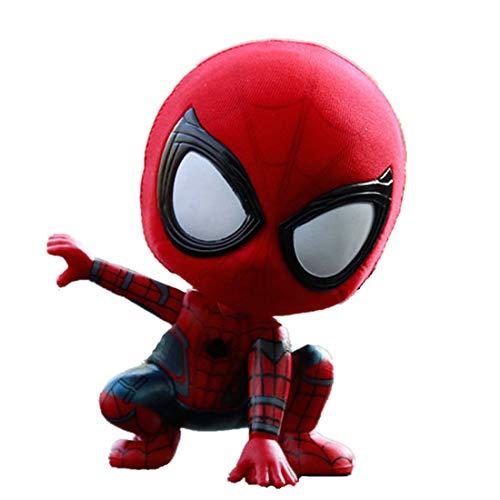 YK Avengers Amazing Spider-Man Q version of the garage kit model dolls shaking head car ornaments Spider-man Marvel resin kit car ornaments birthday gift (B)