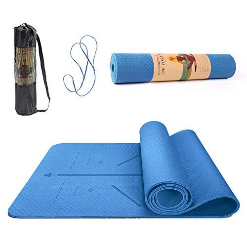 best yoga mat for 2021 SUNFEID Yoga Mat Non Slip Extra Thick Yoga Mat Non Slip Eco Friendly Yoga Mat with Alignment