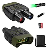 Night Vision Goggles, Night Vision Binoculars IR with Video and Photo, Night Vision with Flashlight, 32GB MicroSD Card and Card Reader for Day and Night Hunting, Wildlife Watching, Monitoring