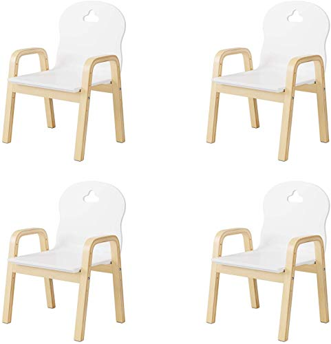 Homfa Set of 4 Children Desk Chairs Adjustable Kids Chair Set Toddler Activity ChairNursery School Home Playroom