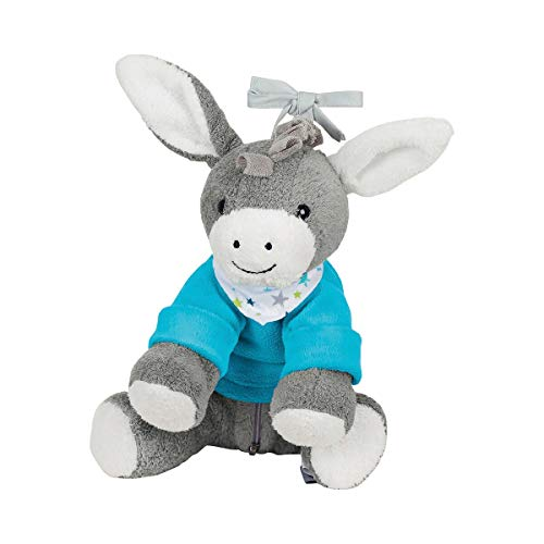 Sterntaler Chilling Box Esel Erik, Einschlafhilfe mit Bluetooth Lautsprecher, Alter: Babys ab der Geburt, 20 x 20 x 8 cm, mehrfarbig