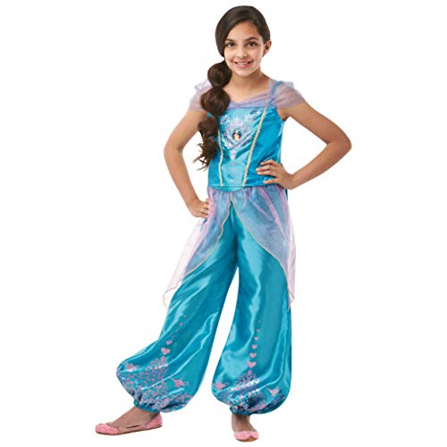 Rubies Official Disney Princess Jasmine Disfraz de gema, Color turquesa, small (640724S)