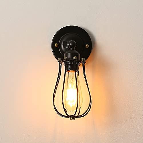 Lámpara de Pared Vintage Industrial, Apliques de Pared Vintage Adjustable, Retro Industrial Aplique Ajustable, para la Salon, Cocina, Desván, Restaurante, Cafe (Bombillas No Incluidas)