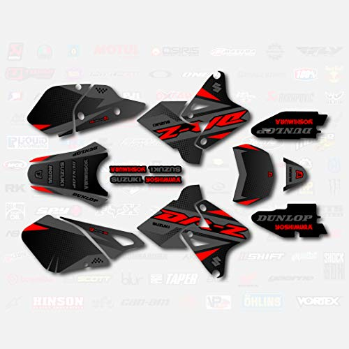 Gray & Red Shift Graphics Kit fits Suzuki DRZ400SM Drz400s drz400 Supermoto DRZ