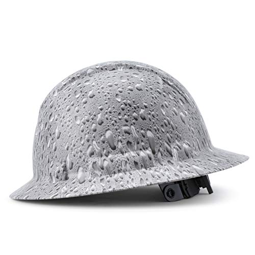 Full Brim Pyramex Hard Hat, Custom Morning Dew Design Safety Helmet, With 4 Point Suspension, by Acerpal