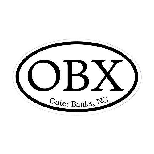 OBX Buitenbanken, NC Ovale Ovale Sticker Stickers Vinyl Auto Stickers Bumper Stickers Grappige Stickers voor Laptop, voor Kinderen, Kerstcadeaus