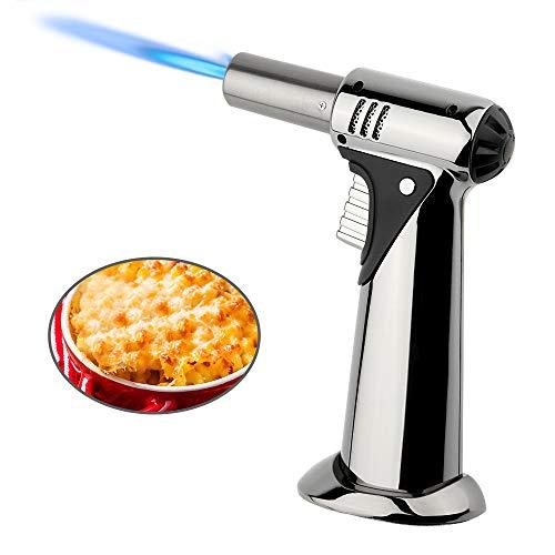 yidenguk lötlampe, culinary fackel feuerzeuge, nachfüllbar butangas fackel-feuerzeug-windundurchlässiges feuerzeug taschenlampe einstellbarer küche kochendes zubehör für küche bbq