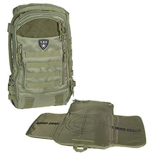 Tactical Baby Gear Daypack 3.0 Tactical Diaper Bag Rucksack und Wickelauflage (Ranger Grün)