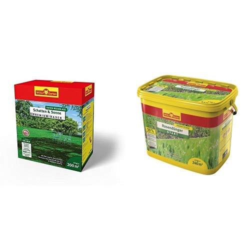 WOLF-Garten - Premium-Rasen »Schatten & Sonne«LP 200; 3820050 & Wolf Rasen-Starterdünger LH 240, mehrfarbig