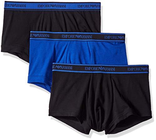 Emporio Armani Underwear Herren 111357 Shorts, Mehrfarbig (Nero/Mazarine/Nero 59820), X-Large