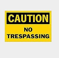 立ち入り禁止のお土産 金属板ブリキ看板警告サイン注意サイン表示パネル情報サイン金属安全サイン