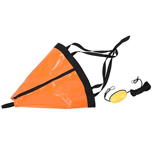 Huairdum Set Galleggiante Ancora per Barca da Pesca, Ancora per Barca, Set Galleggiante per Ancora per Barche, Kayak Leggero per gommone da Pesca in Yacht(Orange)