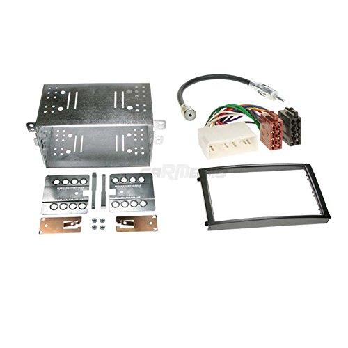 Carmedio SsangYong Rexton ab 06 2-DIN Autoradio Einbauset in original Plug&Play Qualität mit Antennenadapter Radioanschlusskabel Zubehör und Radioblende Einbaurahmen schwarz