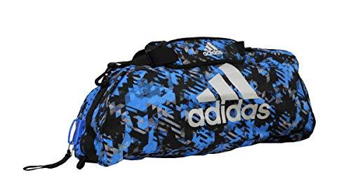 adidas Sporttasche - Sportrucksack Camouflage blau/Silber, Gr. M