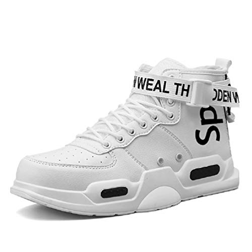 FUSHITON Herren Damen Laufschuhe Fashion High Top Sneakers Freestyle Hi-Top Low-Top Casual Sportschuhe Wanderschuhe