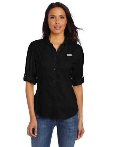 Columbia Women's PFG Tamiami II Long Sleeve Shirt , Black, Large