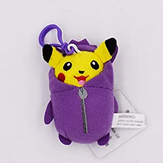 eSunny 8-10Cm Cosplay Eevee Jolteon Magikarp Togepi Squirtle Gengar Ditto Psyduck Keychain Keyring Pend Stuffed Plush Toys Holiday Must Haves Toddler Favourite Superhero Decorations