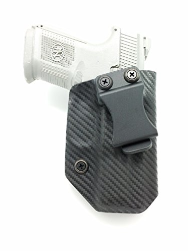 Fast Draw USA - Compatible with FN FNS 9c/40c IWB Kydex Holster Inside Waistband Concealed Carry Holster Made in USA (Carbon Fiber - Right Hand)