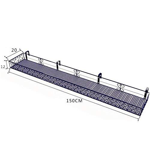 BCLGCF hangende balkon bloempot beugel beugel beugel plank leuning, balkon pot Rack leuning, opknoping Succulent Pot Rack muur opknoping Plant Stand Display Stand, voor Garden Deck veranda of hek