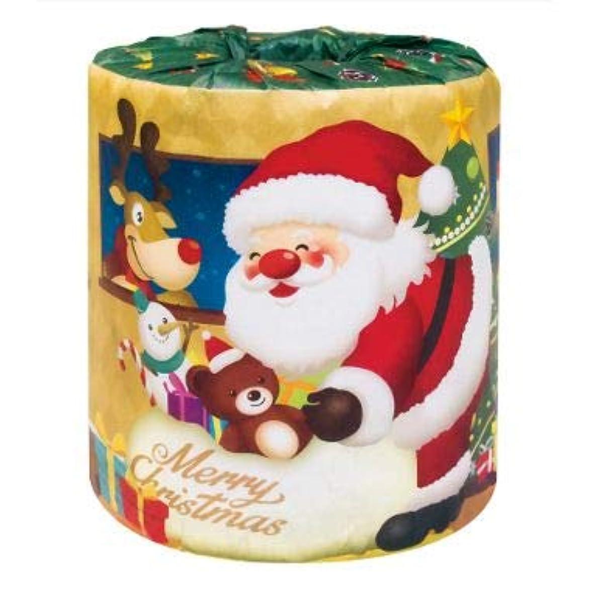 生産的ウール政策【サンタロール1Rトイレットペーパー 1ケース100個入】Xmas クリスマス パーティー イベント用 催事 販促用 粗品 ディスプレイ 積み上げ