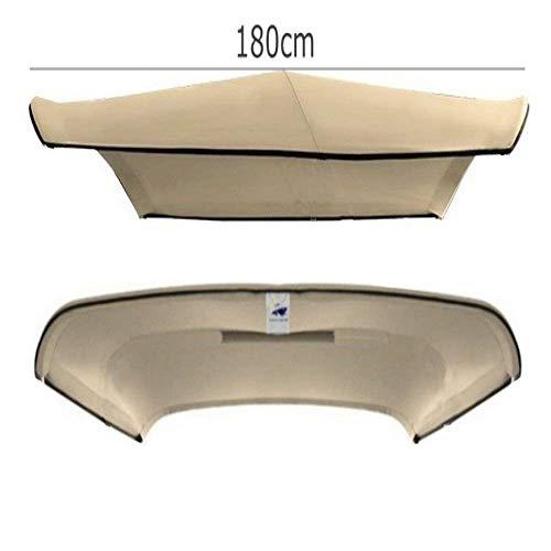 Lunghezza di Copertura 180 cm Adattabile a Tutti i Tipi di imbarcazioni da diporto. Carvid Marine Tendalino Bimini 3 Archi in Alluminio anodizzato Marino