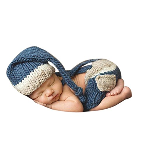 Vovotrade® Bambino Appena Nato Crochet Cappello di Lana Fotografia Costume Prop Outfit Set