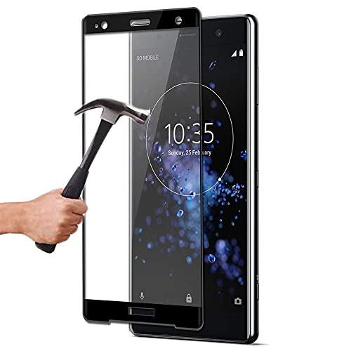 Lapinette in vetro temperato integrale, compatibile con Sony Xperia XZ1 Compact – Protezione schermo in vetro temperato Xperia XZ1 Compact – 9H Force Glass – Protezione in vetro temperato completa