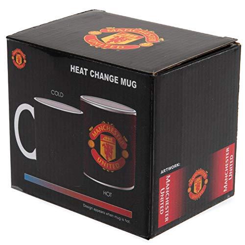 Manchester United FC Heat Changing Gradient Mug (One Size) (Black)