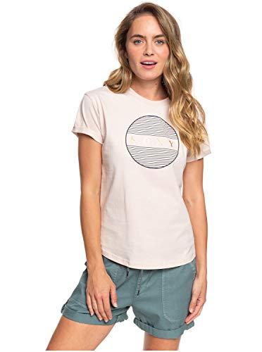 Roxy Epic Afternoon T Camiseta de Mangas Cortas Enrolladas, Mujer, Beige (Peach Blush mdt0), XS