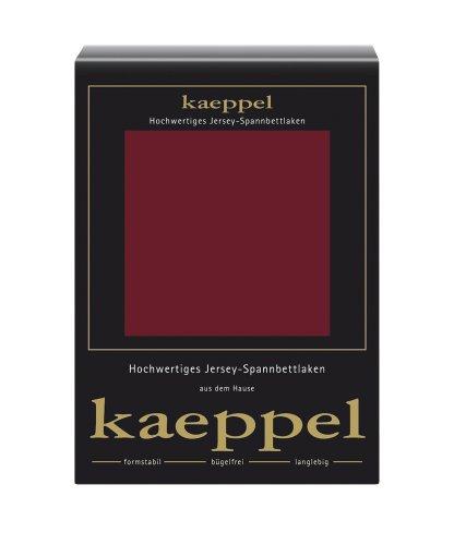 Kaeppel L-016753-16L2-U5KN Jersey Spannbettlaken 150 x 200 cm, Bordeaux