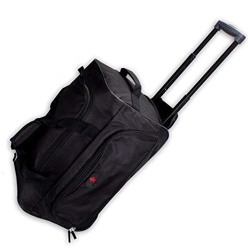 Reisetrolley Modell BlackTravel-S 52cm Koffer Rolltasche Sporttasche 40l (schwarz/schwarz)