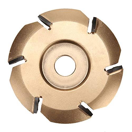 Bestine Holzschnitzscheibe 90mm Durchmesser, Holz Turbo Carving Werkzeug Fräswerkzeuge für Winkelschleifer Power Gravur 22mm