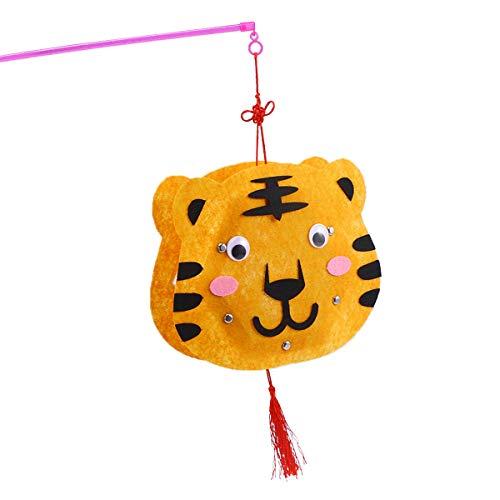 BESTOYARD Kinder DIY Handwerk Laternen Cartoon Tier Laternen Spielzeug Kindergarten Party Hochzeit Dekoration (Tiger)