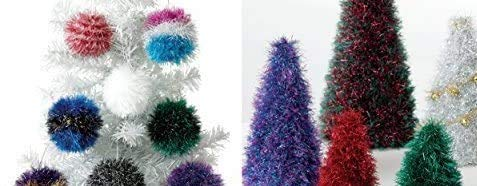 King Cole 9035 Knitting Pattern Tinsel Christmas Trees and Baubles to knit in Tinsel Chunky